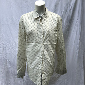 Tommy Hilfiger White w/Dots Button Up Top